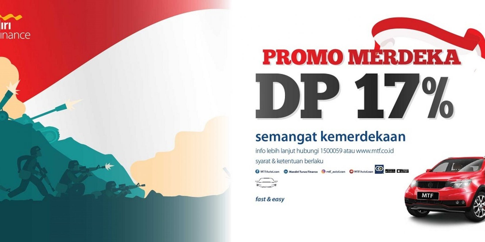 Promo Merdeka DP 17%