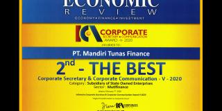MTF Raih The Best Indonesia Corporate Secretary & Corporate Communication 2020