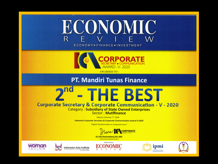 MTF Raih The Best Indonesia Corporate Secretary & Corporate Communication 2020