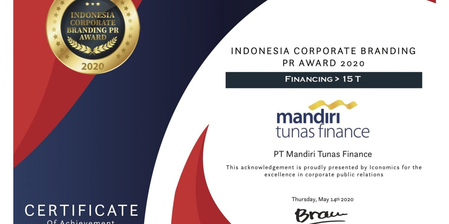 MTF Raih Indonesia Corporate Branding Awards 2020