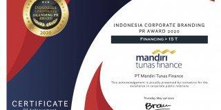 MTF Raih Indonesia Corporate Branding Awards 2020
