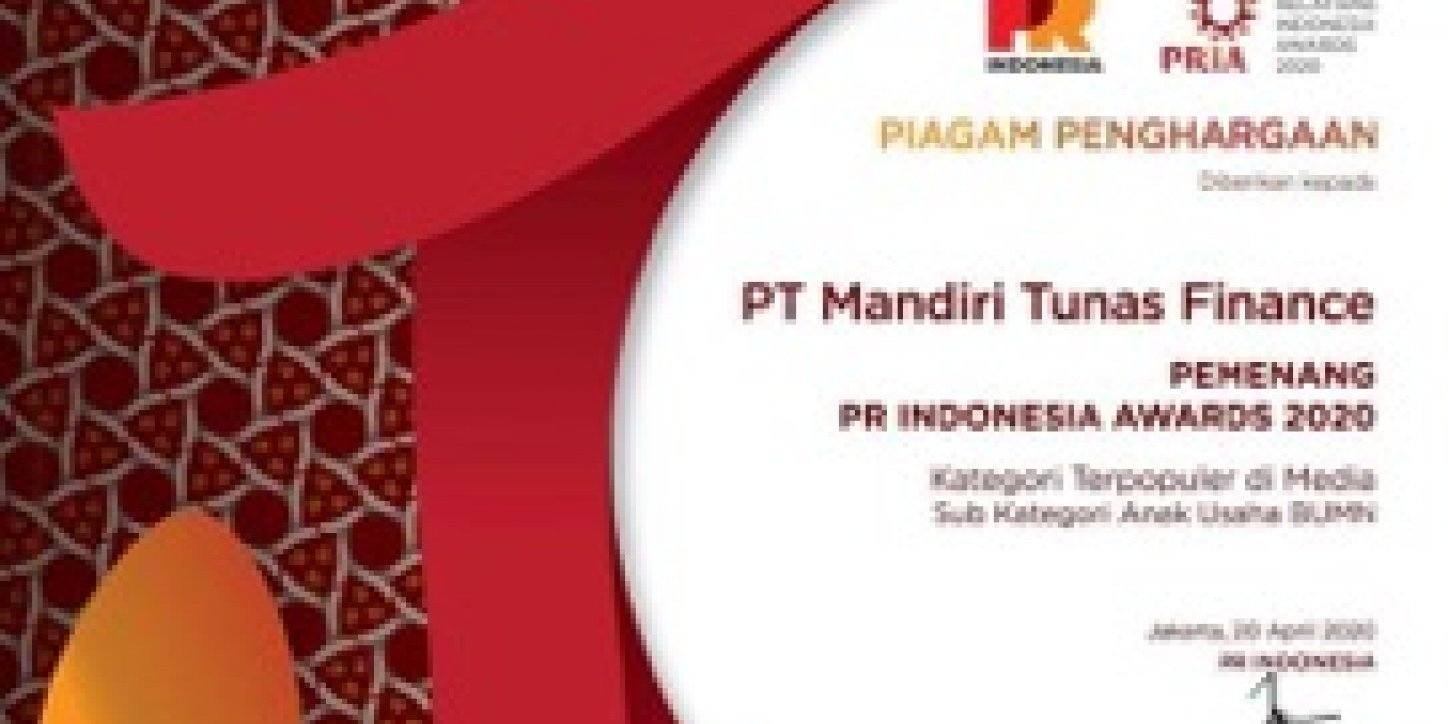 MTF Raih PR Indonesia Awards 2020
