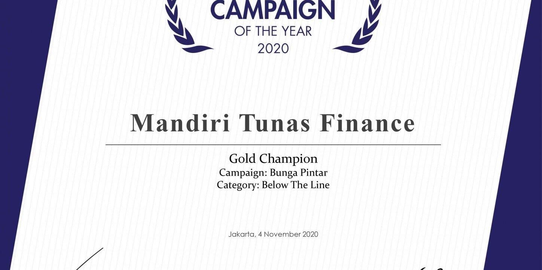 MTF Mendapat Penghargaan Indonesia Branding Campaign of The Year 2020