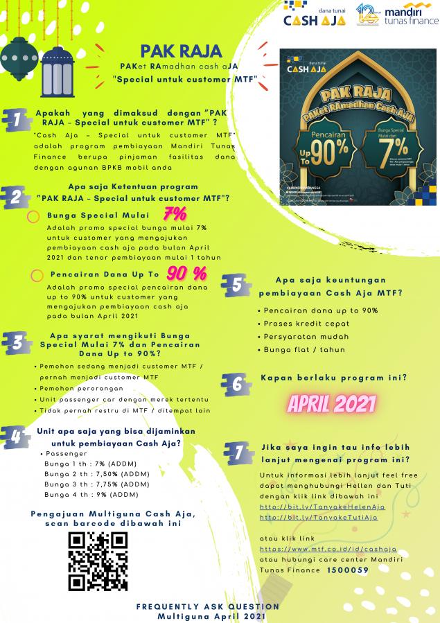 Cash Aja Pak Raja Special RO AO April 2021