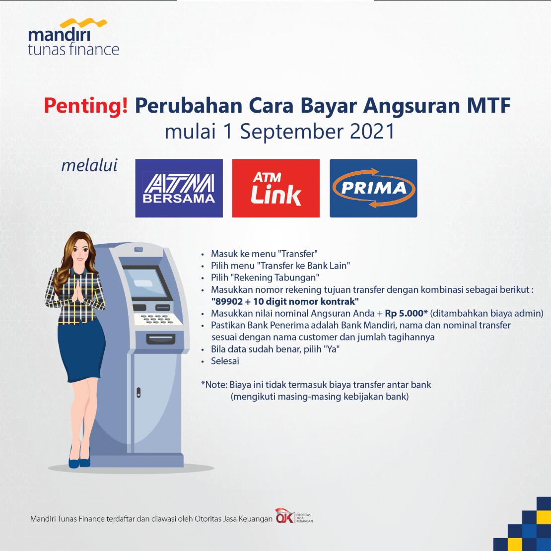 Tata Cara Pembayaran Angsuran MTF Melalui ATM Bersama