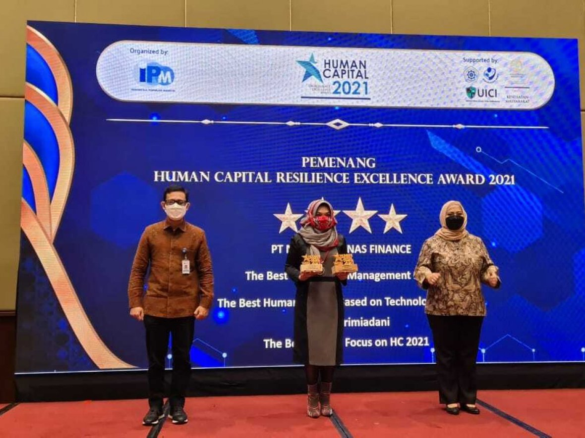 MTF Borong Tiga Penghargaan di Ajang Human Capital Resilience Excellence Award 2021